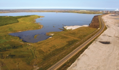 Φωτογραφία από ορυχείο μετά την αποκατάσταση (Alberta, Canada; Πηγή: https://www.earthmagazine.org/article/reclaiming-albertas-oil-sands-mines)